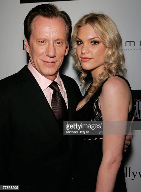 Actor James Woods and Ashley Madison inside the Hamilton Behind the Camera Awards Hosted by Hollywood Life at The Highlands on November 11, 2007 in...