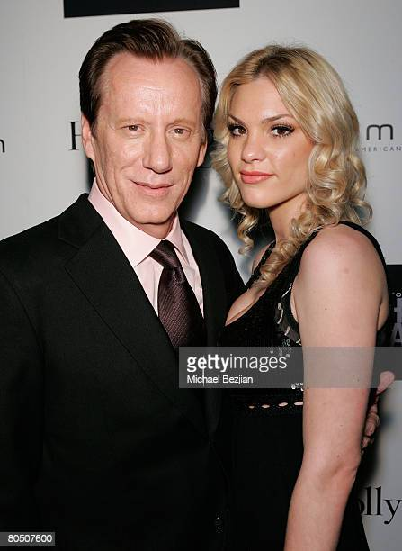 HOLLYWOOD NOVEMBER 11 Actor James Woods and Ashley Madison inside the Hamilton Behind the Camera Awards Hosted by Hollywood Life at The Highlands on...