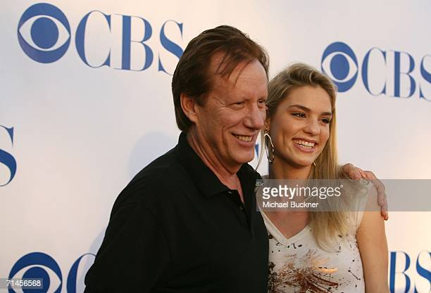 Actor James Woods and date Ashley Madison arrive at the CBS 2006 Summer TCA Party at the Rose Bowl on July 15, 2006 in Pasadena, California.