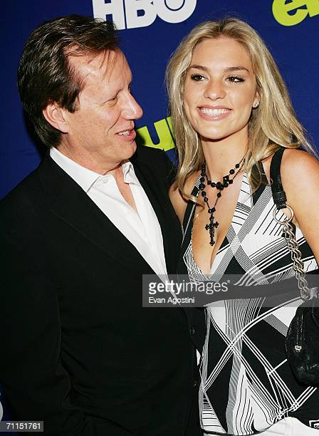Actor James Woods and date Ashley Madison attend the New York Premiere of the 3rd Season of HBO's Entourage at the Skirball Center for the Performing...