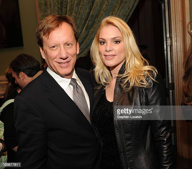 Actor James Woods and girlfriend Ashley Madison attend The Cinema Society Everlon Diamond Knot Collection screening Of Welcome To The Rileys on...