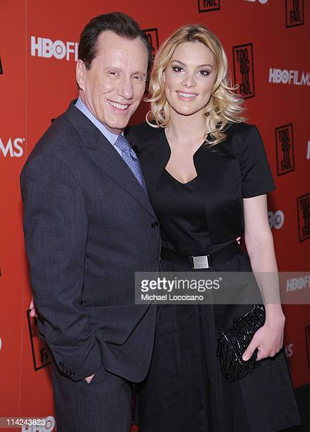 Actor James Woods and girlfriend Ashley Madison attend the Too Big To Fail New York Premiere at The Museum of Modern Art on May 16 2011 in New York...