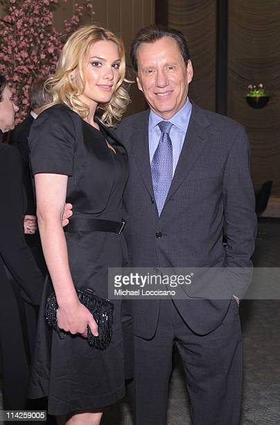 Actor James Woods and girlfriend Ashley Madison attend the Too Big To Fail New York Premiere after party at the Four Seasons Restaurant on May 16...
