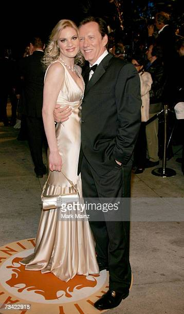 Actor James Woods and guest arrive at the 2007 Vanity Fair Oscar Party at Mortons on February 25, 2007 in West Hollywood, California.