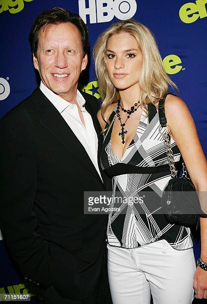 Actor James Woods and guest Ashley Madison attend the New York Premiere of the 3rd Season of HBO's Entourage at the Skirball Center for the...