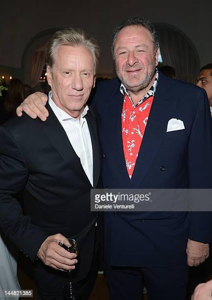 Actor James Woods and Jean Pigozzi attend the Vanity Fair and Gucci Party at Hotel Du Cap during 65th Annual Cannes Film Festival on May 19, 2012 in...