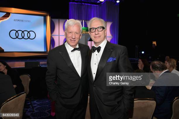 Actor James Woods and President of the Writers Guild of America West Howard Rodman attend the 2017 Writers Guild Awards LA Ceremony at The Beverly...