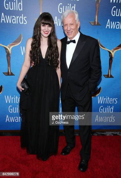Actor James Woods and Sara Miller attend the 2017 Writers Guild Awards LA Ceremony at The Beverly Hilton Hotel on February 19 2017 in Beverly Hills...