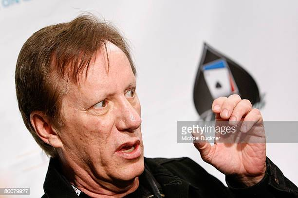 Actor James Woods arrives at the 6th Annual World Poker Tour Invitational Kick Off at the Commerce Casino on March 1 2008 in Los Angeles California