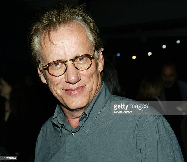 Actor James Woods arrives at the postpremiere party for Dark Blue on Febraury 12 2003 in Los Angeles California