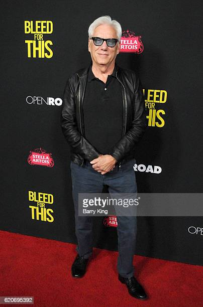 Actor James Woods arrives at the premiere of Open Road Films' 'Bleed For This' at Samuel Goldwyn Theater on November 2 2016 in Beverly Hills...