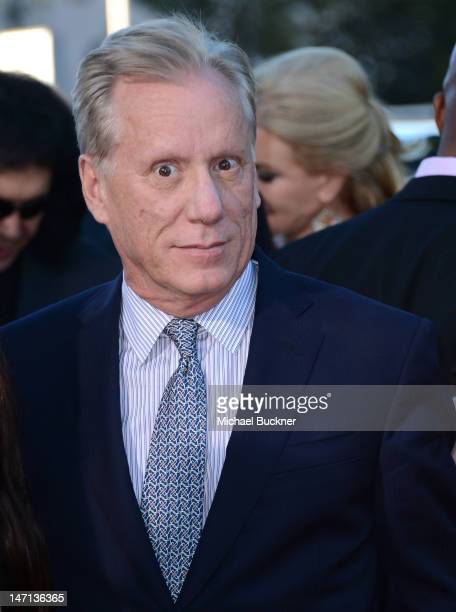 Actor James Woods arrives at the premiere of Universal Pictures' Savages at Westwood Village on June 25 2012 in Los Angeles California