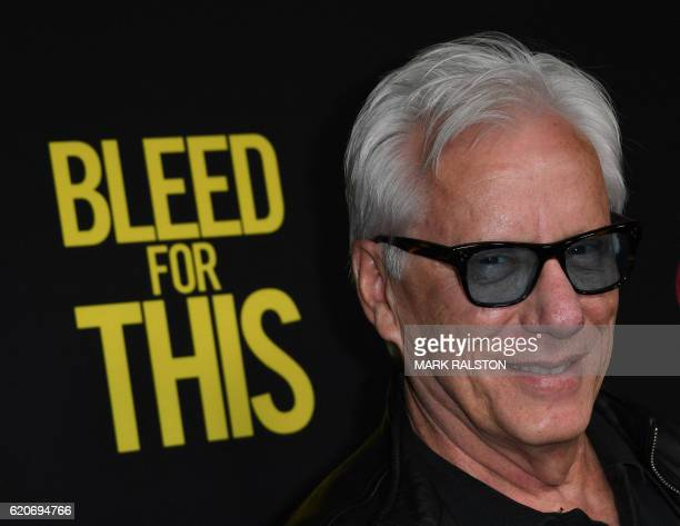 Actor James Woods arrives for the Los Angeles premiere of Bleed for This at the Samuel Goldwyn Theater in Beverly Hills California on November 2 2016...