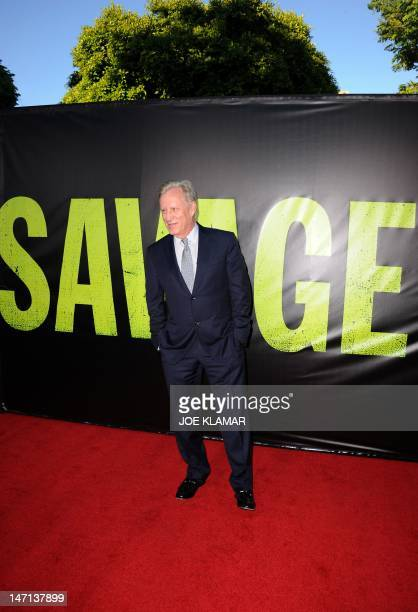 Actor James Woods arrives for the premiere of Universal Pictures' 'Savages' at Westwood Village on June 25 2012 in Los Angeles California AFP PHOTO /...