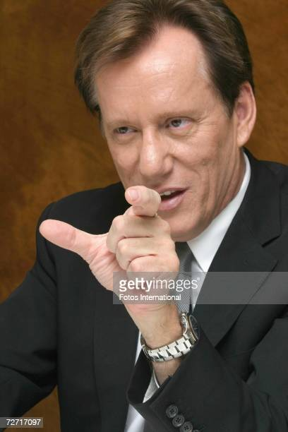 Actor James Woods speaks with the media at the Four Seasons Hotel on November 27, 2006 in Los Angeles, California.