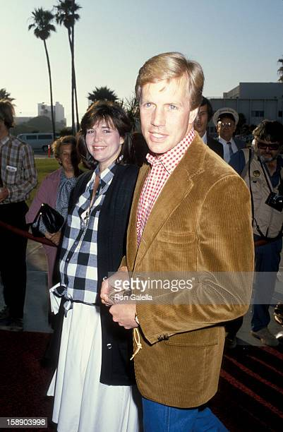 Actor Jameson Parker and wife Bonnie Parker attend 33rd Annual SHARE Boomtown Party on May 17 1986 at the Santa Monica Civic Auditorium in Santa...