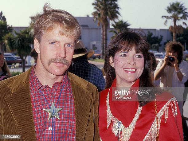 Actor Jameson Parker and wife Bonnie Parker attend 34th Annual SHARE Boomtown Party on May 16 1987 at the Santa Monica Civic Auditorium in Santa...
