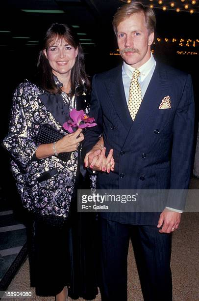 Actor Jameson Parker and wife Bonnie Parker attend CBS TV Affiliates Party on May 20 1987 at the Century Plaza Hotel in Century City California