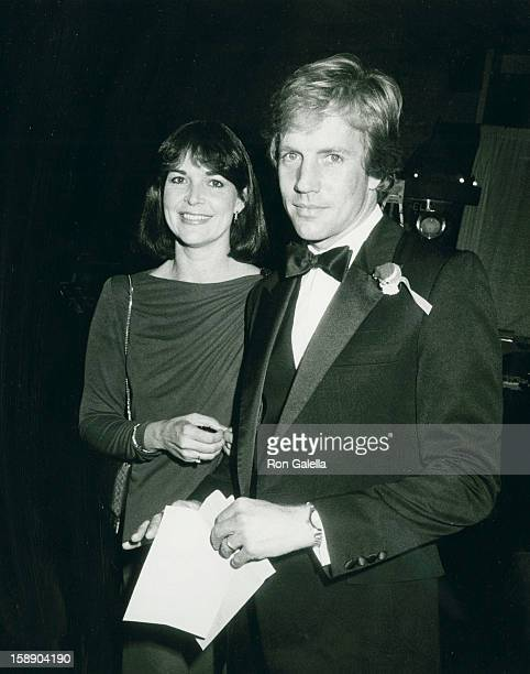 Actor Jameson Parker and wife Bonnie Parker attend Scott Newman Awards Gala on November 11 1983 at the Century Plaza Hotel in Century City California