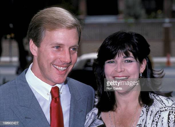 Actor Jameson Parker and wife Bonnie Parker attend the fundraising benefit for the Santa Monica Rape Treatment Center on September 14 1986 at Barney...