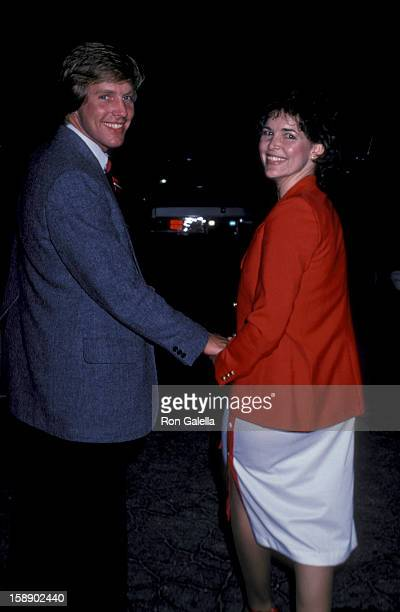 Actor Jameson Parker and wife Bonnie Parker attend the taping of The Merv Griffin Show on April 1 1980 at TAV Studios in Los Angeles California