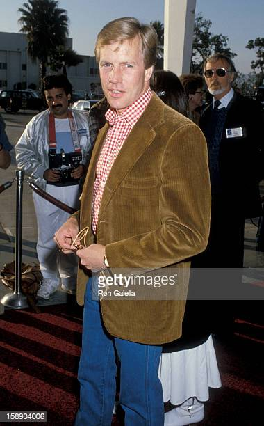 Actor Jameson Parker attends 33rd Annual SHARE Boomtown Party on May 17 1986 at the Santa Monica Civic Auditorium in Santa Monica California