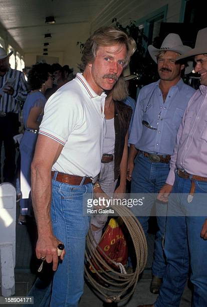 Actor Jameson Parker attends Ben Johnson ProCelebrity Rodeo on August 11 1989 at the Los Angeles Equestrian Center in Los Angeles California