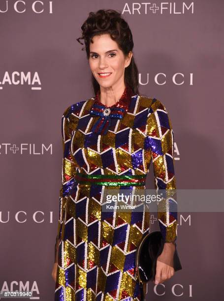 Actor Jami Gertz attends the 2017 LACMA Art Film Gala Honoring Mark Bradford And George Lucas at LACMA on November 4 2017 in Los Angeles California