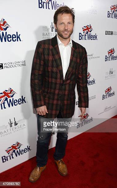 Actor Jamie Bamber arrives at the 9th Annual BritWeek launch party at the British Consul General's Residence on April 21, 2015 in Los Angeles,...