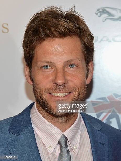 """Actor Jamie Bamber arrives to BritWeek 2012's """"Evening with Piers Morgan"""" on May 4, 2012 in Beverly Hills, California."""