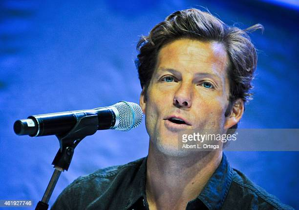 Actor Jamie Bamber attends Day 2 of the Third Annual Stan Lee's Comikaze Expo held at Los Angeles Convention Center on November 1 2014 in Los Angeles...