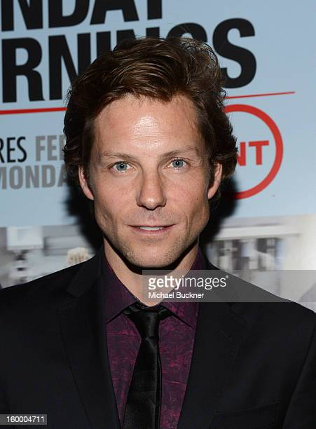 Actor Jamie Bamber attends 'Monday Mornings' Premiere Reception at at BOA Steakhouse on January 24 2013 in West Hollywood California...