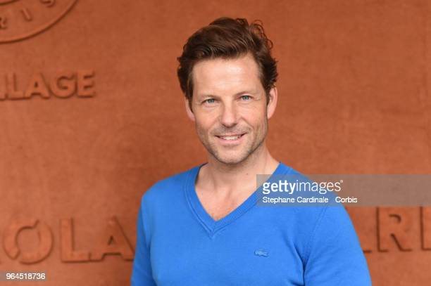 Actor Jamie Bamber attends the 2018 French Open - Day Five at Roland Garros on May 31, 2018 in Paris, France.