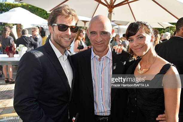 Actor Jamie Bamber Michael Lewis and actress Kerry Norton attend the BAFTA LA TV Tea 2013 presented by BBC America and Audi held at the SLS Hotel on...