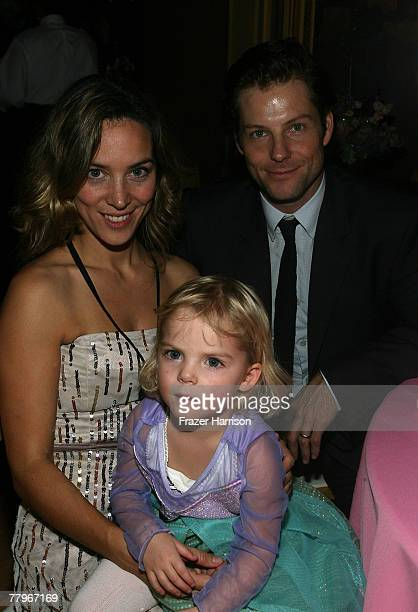 Actor Jamie Bamber with guests at the World Premiere of Disney's Enchanted after party held at the El Capitan Theatre on November 172007 in Hollywood...