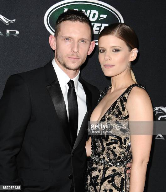 Actor Jamie Bell and actress Kate Mara attend the 2017 AMD British Academy Britannia Awards at The Beverly Hilton Hotel on October 27 2017 in Beverly...
