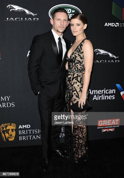 Actor Jamie Bell and actress Kate Mara attend the 2017 AMD British Academy Britannia Awards at The Beverly Hilton Hotel on October 27, 2017 in...