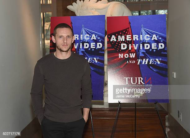 Actor Jamie Bell attends the Premiere of AMC's Turn Washington Spies at New York Historical Society on April 20 2016 in New York City