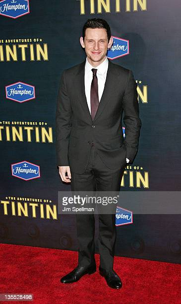Actor Jamie Bell attends the 'The Adventures of TinTin' New York premiere at the Ziegfeld Theatre on December 11 2011 in New York City