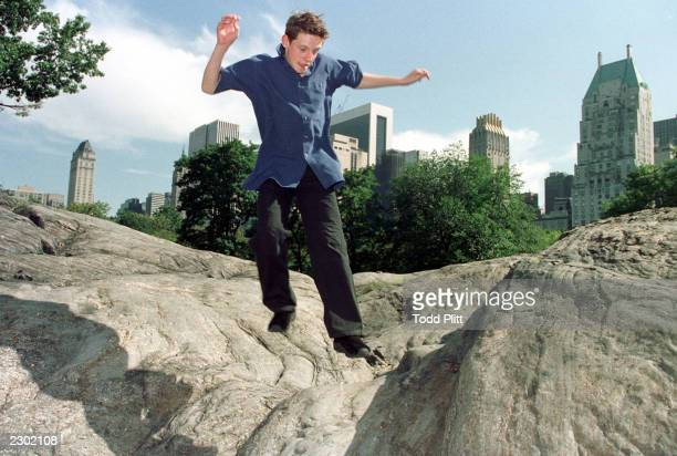 Actor Jamie Bell the star of new movie release 'Billy Elliot' poses for photographs in New York s Central Park on Thursday September 7 2000 Todd...