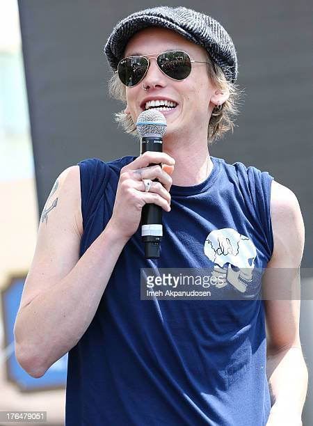 Actor Jamie Campbell Bower attends Screen Gems Constantin Films' 'The Mortal Instruments City Of Bones' meet and greet at The Americana at Brand on...