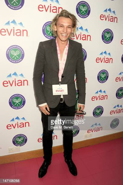 Actor Jamie Campbell Bower attends the evian 'Live young' VIP Suite at Wimbledon on June 25 2012 in London England