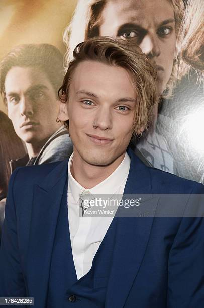 Actor Jamie Campbell Bower attends the premiere of Screen Gems Constantin Films' 'The Mortal Instruments City of Bones' at ArcLight Cinemas Cinerama...