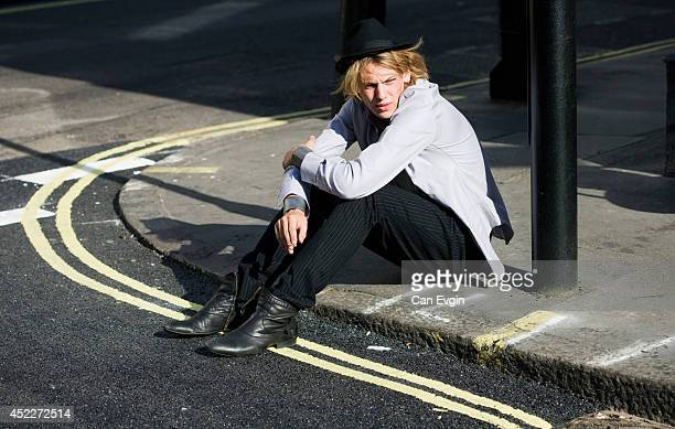 Actor Jamie Campbell Bower is photographed for Black Book magazine in London England