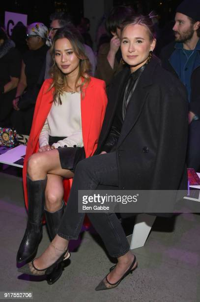 Actor Jamie Chung and blogger Danielle Bernstein attend the Anna Sui fashion show during New York Fashion Week The Shows at Gallery I at Spring...
