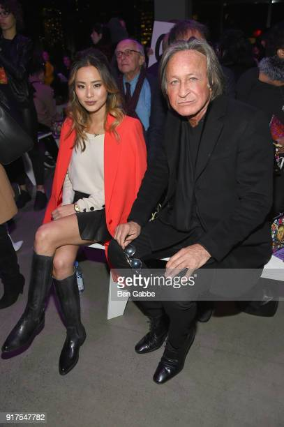 Actor Jamie Chung and real estate developer Mohamed Hadid attend the Anna Sui fashion show during New York Fashion Week The Shows at Gallery I at...