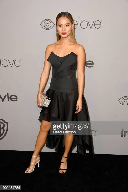 Actor Jamie Chung attends 19th Annual PostGolden Globes Party hosted by Warner Bros Pictures and InStyle at The Beverly Hilton Hotel on January 7...