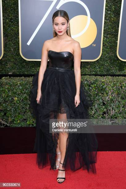 Actor Jamie Chung attends The 75th Annual Golden Globe Awards at The Beverly Hilton Hotel on January 7 2018 in Beverly Hills California