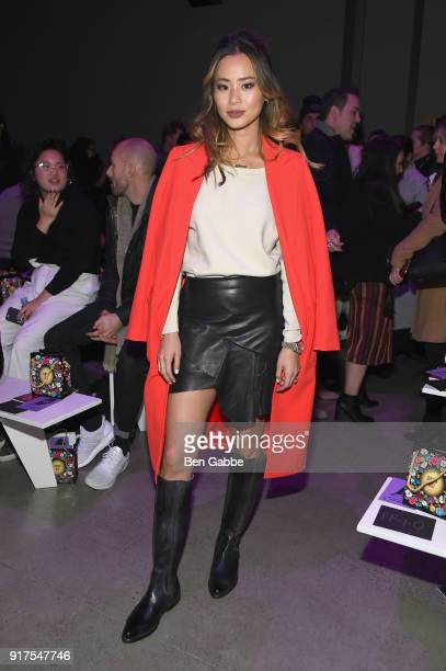 Actor Jamie Chung attends the Anna Sui fashion show during New York Fashion Week The Shows at Gallery I at Spring Studios on February 12 2018 in New...