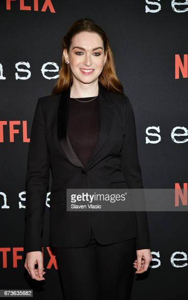 Actor Jamie Clayton attends Sense8 New York Premiere at AMC Lincoln Square Theater on April 26 2017 in New York City